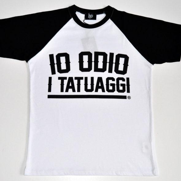 Tshirt collegiale IO ODIO I TATUAGGI