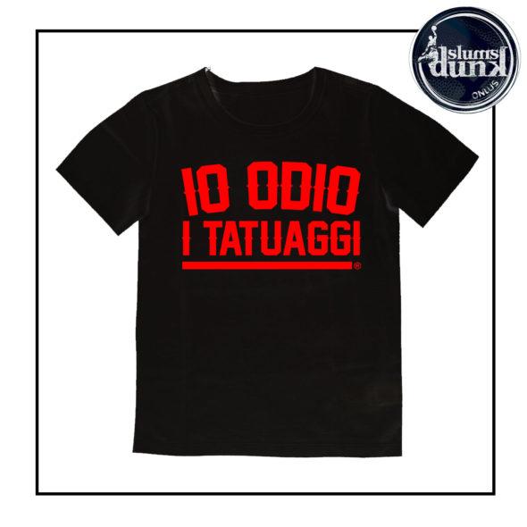 t-shirt bambino nero rosso